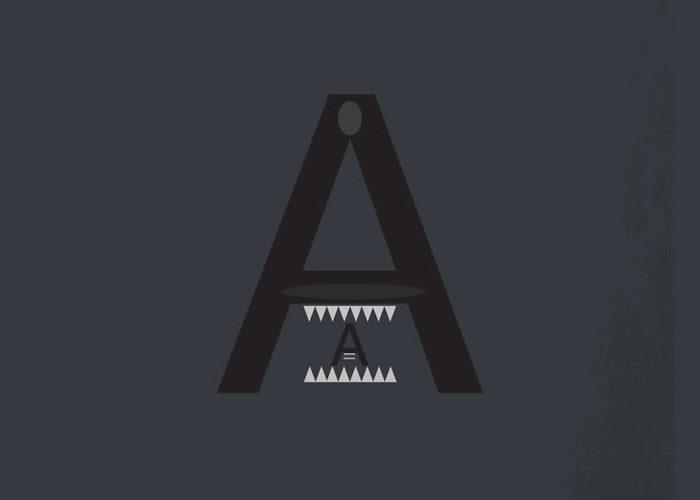 Helvetica Superheroes – A Minimalist Alphabet of Superheroes