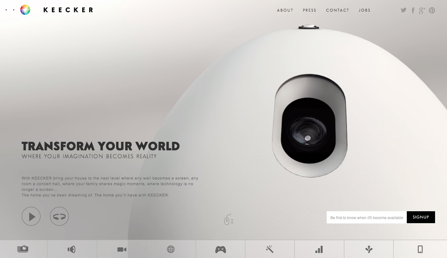 Taking full advantage of minimalism in web design for Minimalist homepage