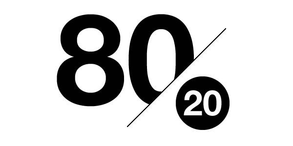 pareto rule 80 20