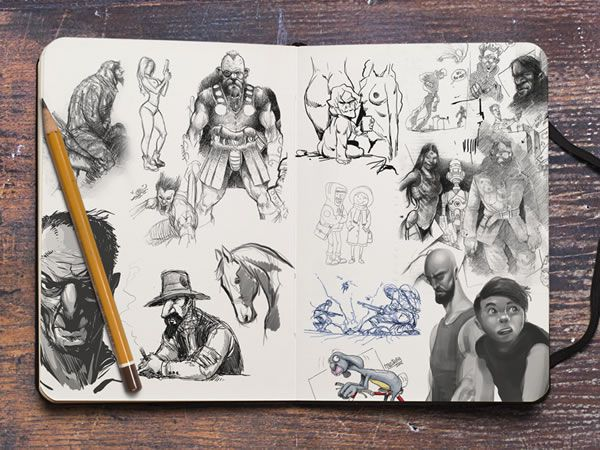 sketch logo sketchbook