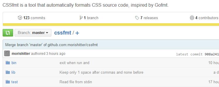 cssfmt format css code