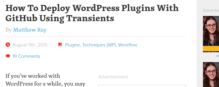 Deploy WordPress Plugins With GitHub Using Transients