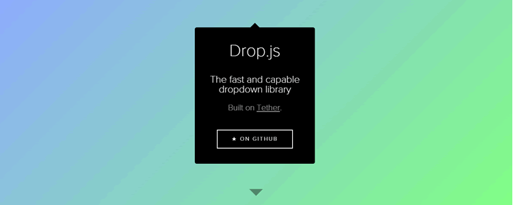 Drop library creating dropdowns floating elements