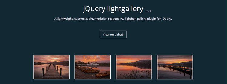 jQuery lightgallery jQuery lightgallery Lightweight customizable modular responsive lightbox gallery plugin
