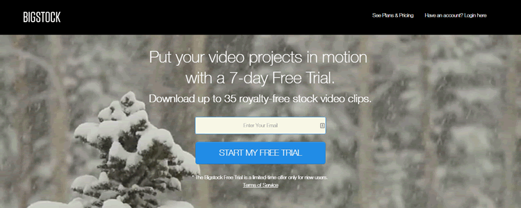 Get a Free 7 Day Trial of Bigstock Video