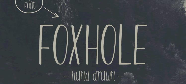 Freebie Foxhole Typeface