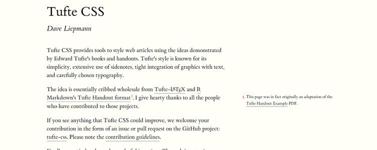 Tufte CSS