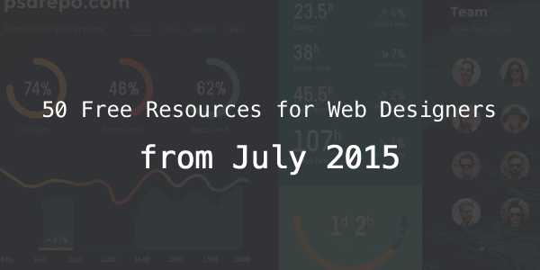 50 Free Resources for Web Designers from July 2015