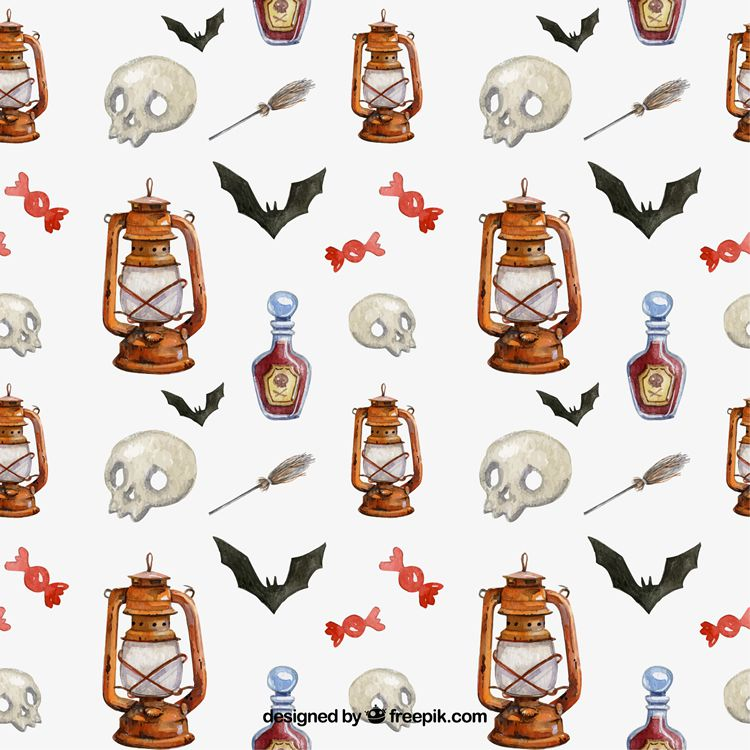 Halloween Pattern Pack free vector ai eps jpg