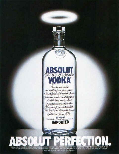 Absolut vodka made their simply shaped bottle the hero of all of their ads