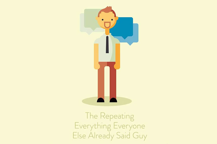 Humorous Illustration Series on Irritating Conference Callers