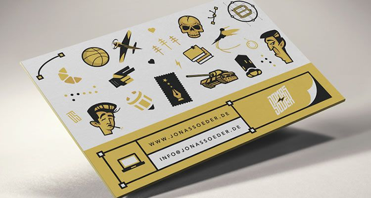 Retro Illustrated Business Cards 2014