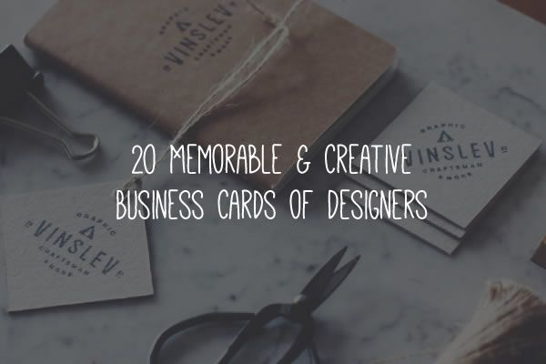 20 Inspirational & Creative Business Cards for Designers