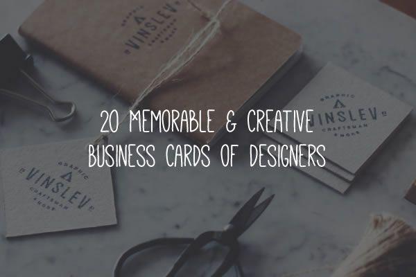 20 inspirational creative business cards for designers colourmoves