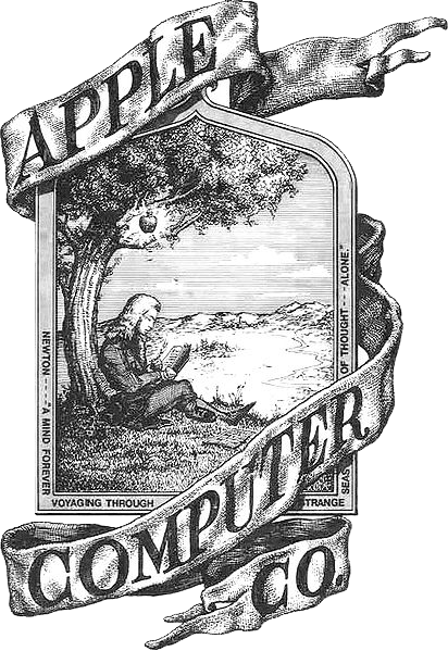 first apple logo isaac newton