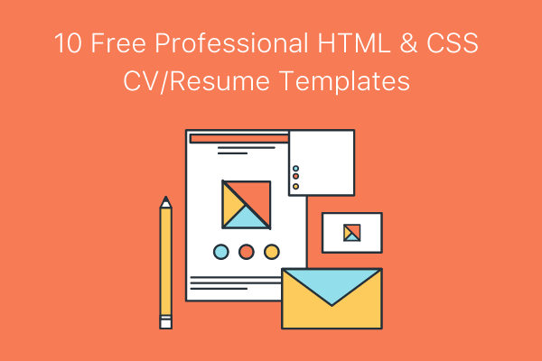 10 free professional html css cvresume templates - Free Templates For Resume