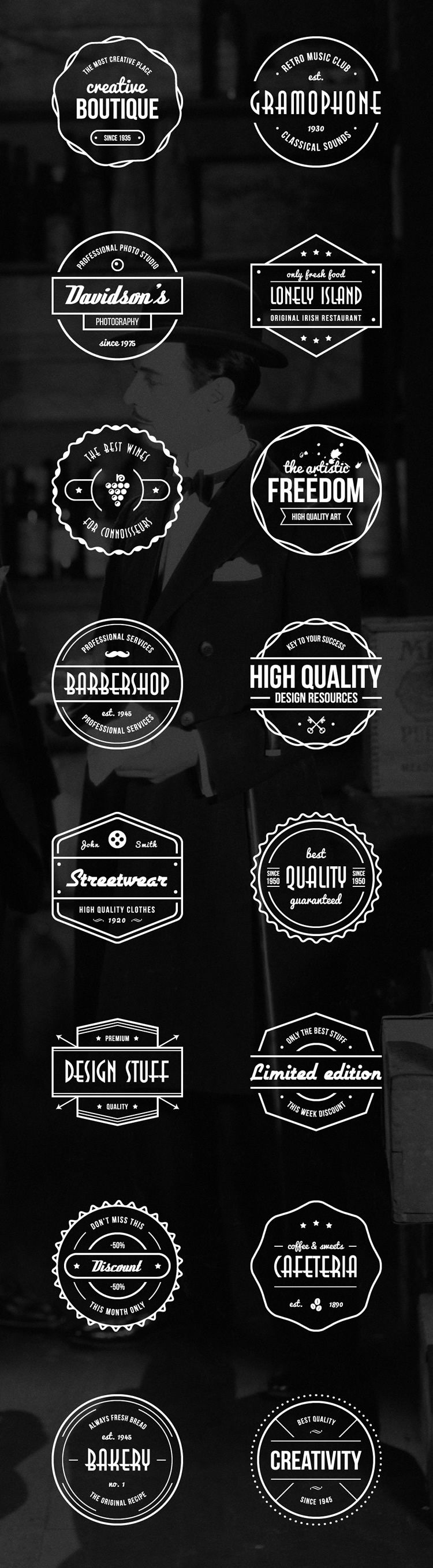 vintage badges logo freebie logo ai eps
