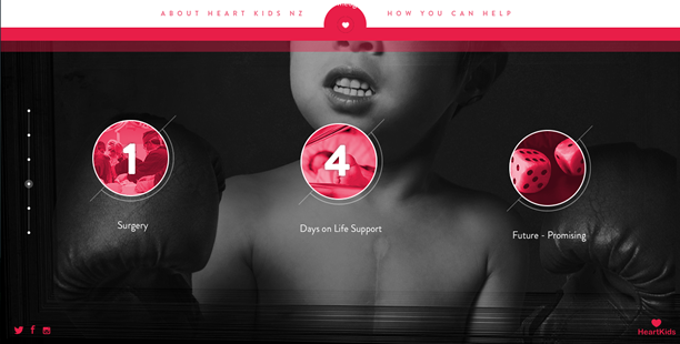 Heart Kids long-scrolling site combines animations