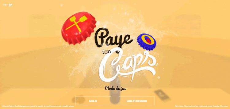 paye ton caps beer example of the color Orange ecommerce store color web design
