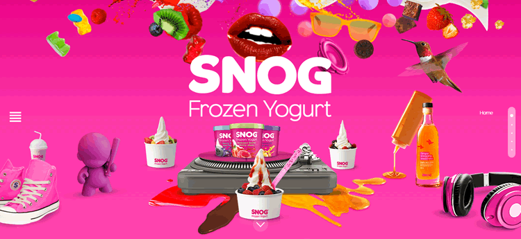 i fancy a snog shop example of the color Pink in use in web design