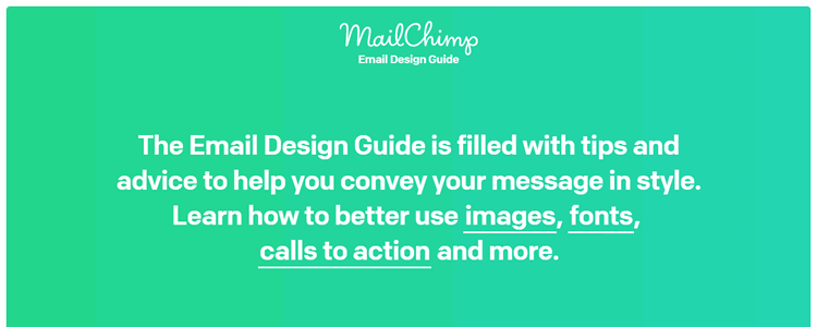 MailChimp Email Design Guide