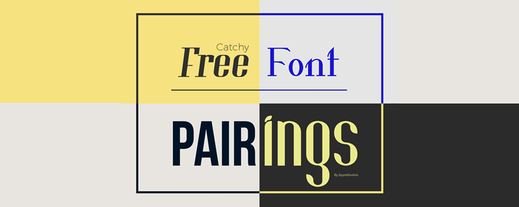 Lovely Free Font Pairings For Personal and Commercial Projects