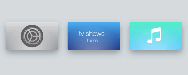 Apple TV 2015 icons HTML CSS JS