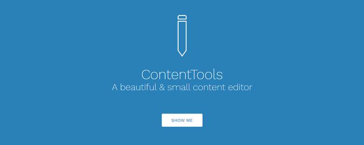 ContentTools WYSIWYG HTML editor