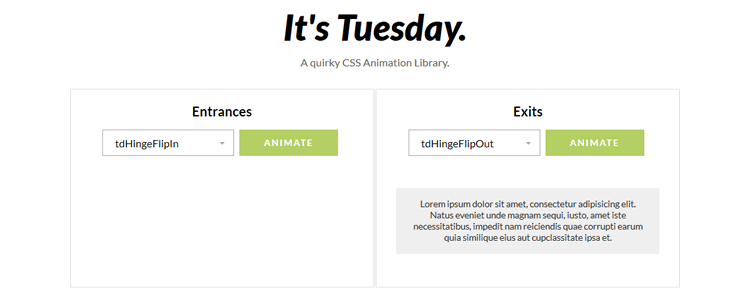 CSS Animation Library Tuesday