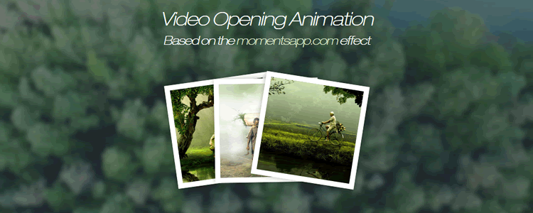 Create a Fullscreen Video Opening Animation