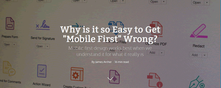 Mobile First Wrong