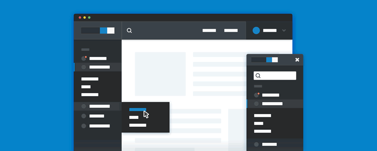 Responsive Sidebar Navigation CSS jQuery