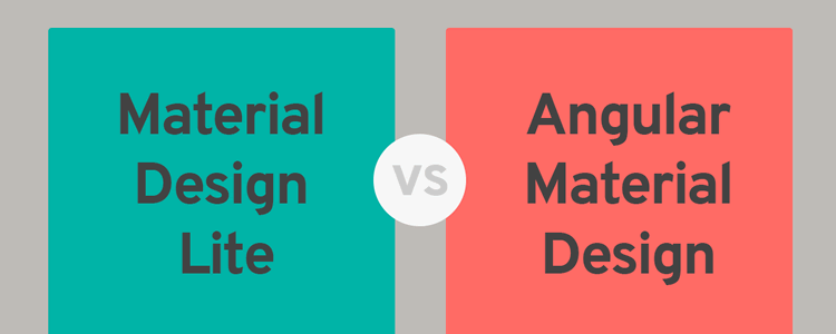Angular Material vs Material Design Lite