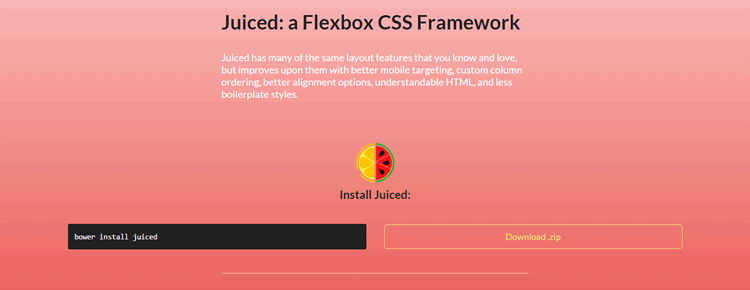 juiced Flexbox CSS framework