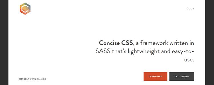 Concise CSS framework SASS lightwheight
