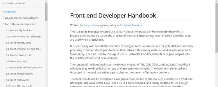 Front-end Developer Handbook