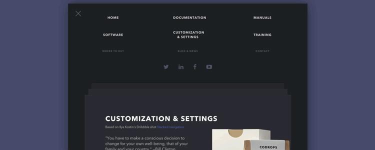 Page Stack Navigation