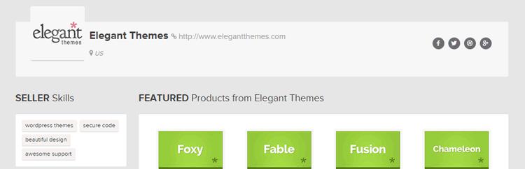 screenshot of mojo themes and elegant homepage wordpress theme