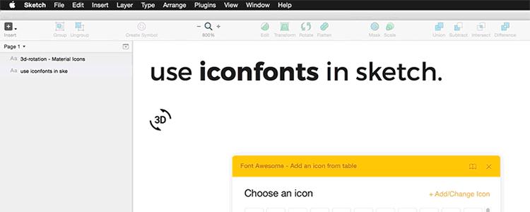 Sketch Iconfont