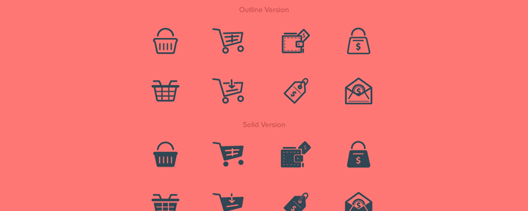 Outline Solid Purchase Buy Icons