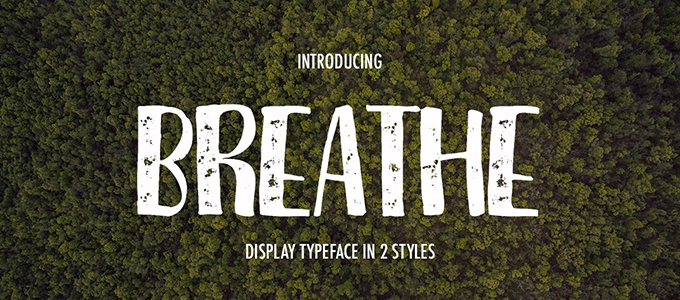 Breathe Dispay Typeface