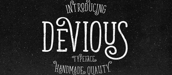 Devious Typeface