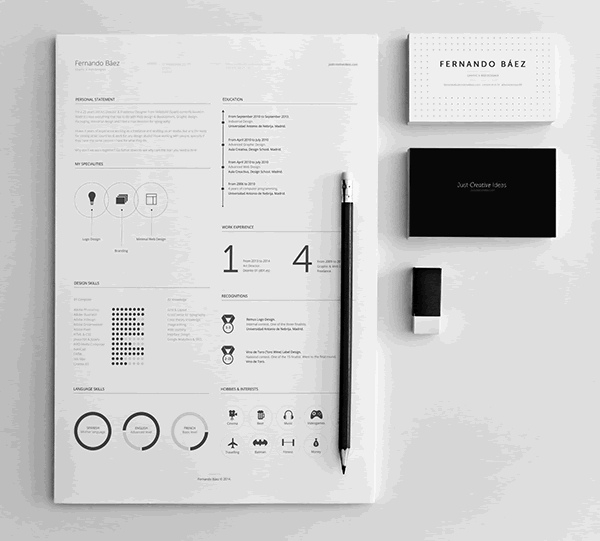 resume template illustrator ai - Resume Templates For Designers