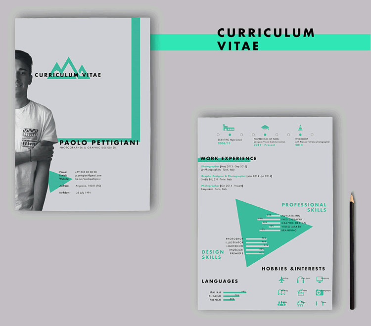 Self Promotion Free CV AI  Resume Templates Indesign