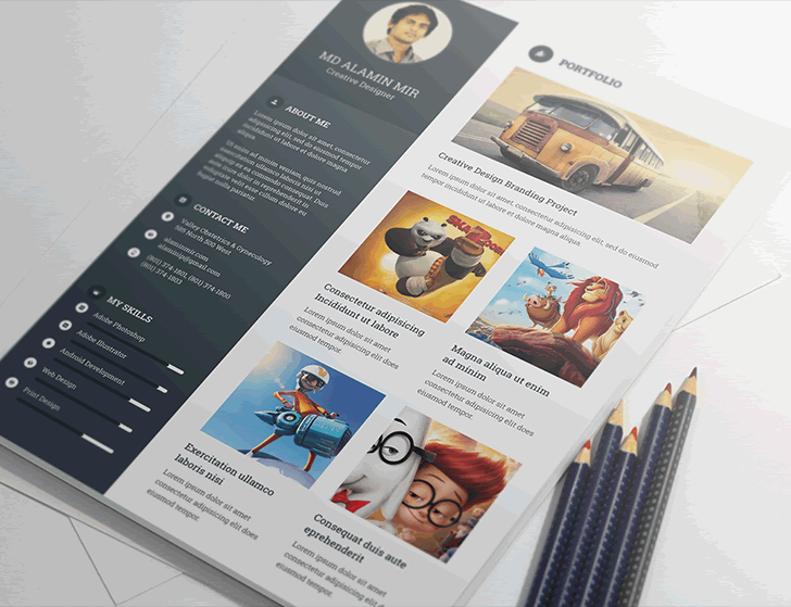 Beautiful Free Resume Templates For Designers - Cool resume templates free download
