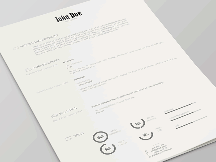 Resume Free Template Version 2  Photo Resume Template