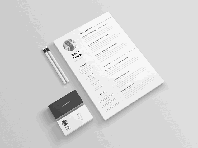 clean minimal resume template ai
