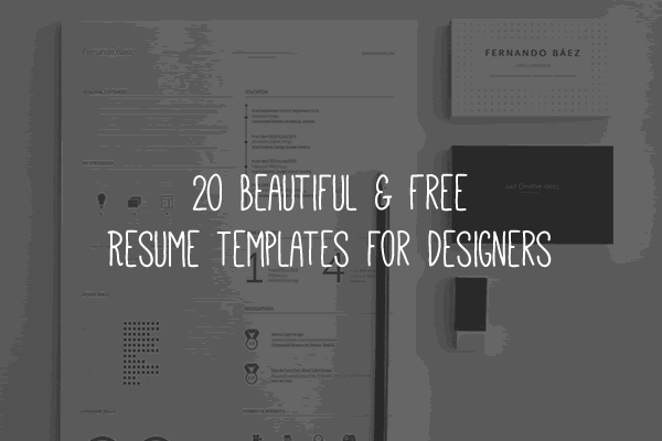 20 beautiful free resume templates for designers - Resume Templates For Designers