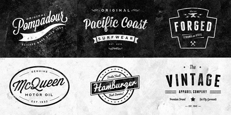12 Free Vintage Logo & Badge Template Collections