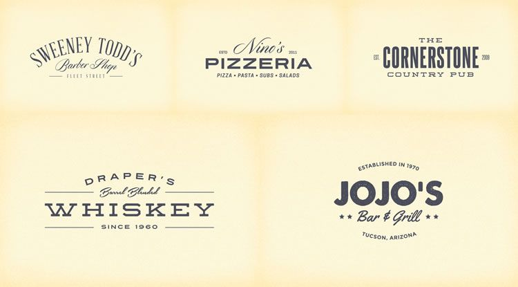 10 free vintage logo  u0026 badge template collections